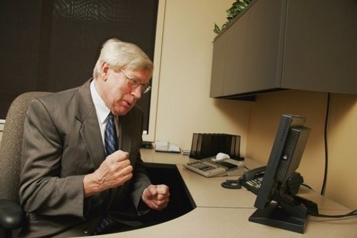 Stock Photo: 4029R-148754 Businessman feeling angry