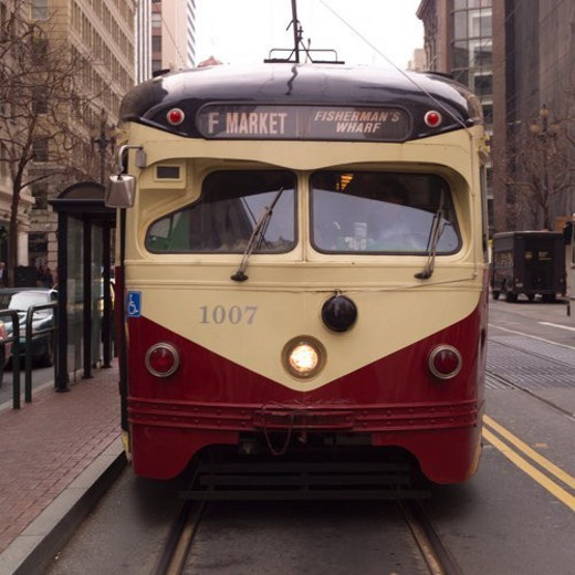 Stock Photo: 4029R-149370 Trolley Car in San Francisco