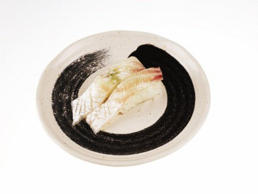 food, plate, sea bream, decoration, food styling, cuisine, sushi plate : Stock Photo