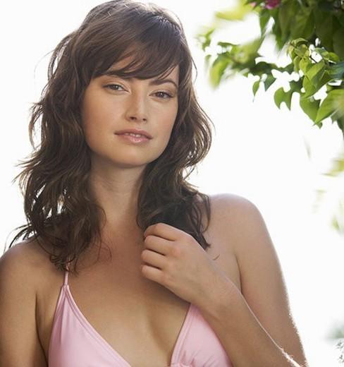 Stock Photo: 4029R-15344 A woman in a bikini