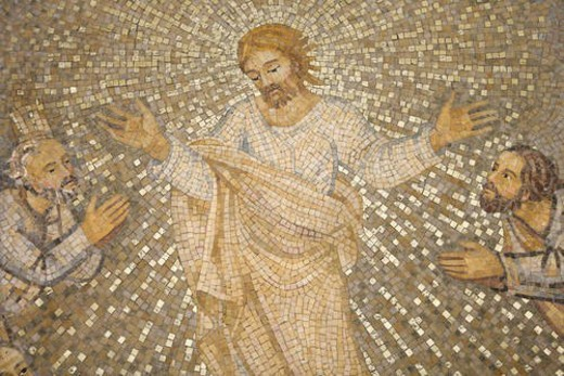 Mosaic of Christ and Disciples : Stock Photo