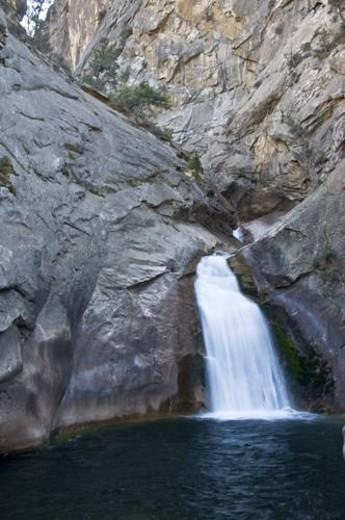 Stock Photo: 4029R-154727 Roaring River Falls, Kings Canyon National Park, California, USA
