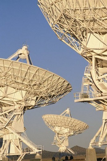 Close-up of satellite dishes : Stock Photo