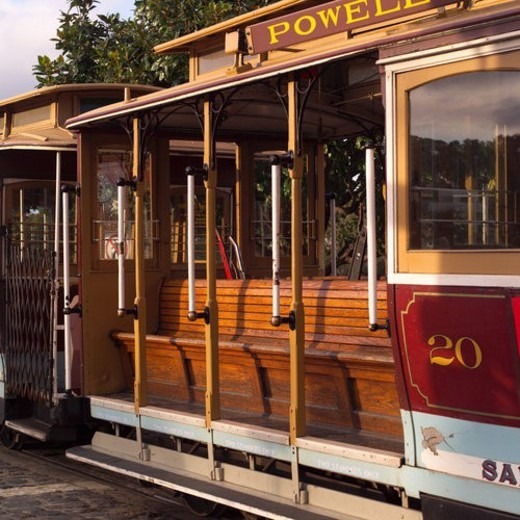Side of a Trolley on streets of San Francisco : Stock Photo