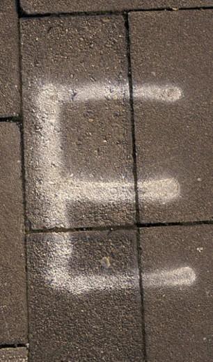 Stock Photo: 4029R-160178 buchstabe, schriftzeichen, alphabetic, away, Bernhard, character