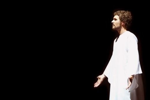 Stock Photo: 4029R-162028 Man portraying Jesus