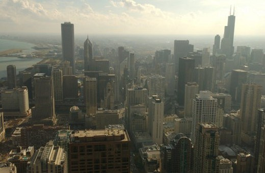 Aerial View of Chicago : Stock Photo