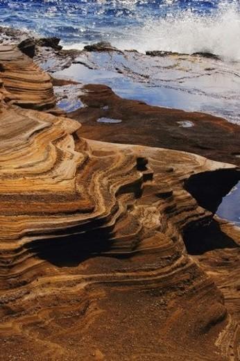 Eroded shoreline : Stock Photo