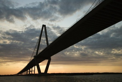 Cooper River Bridge in Charleston, South Carolina. : Stock Photo