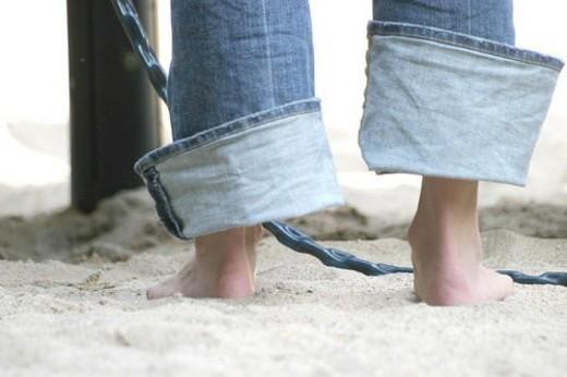 Stock Photo: 4029R-174358 beach, body, burkhard, CLOSE, close-up, foot