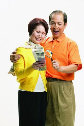 Elderly, Brown Hair, Short Hair, Polo Shirt, Mature Women, Looking Down : Stock Photo