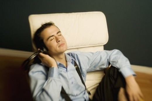 Man relaxing after work : Stock Photo