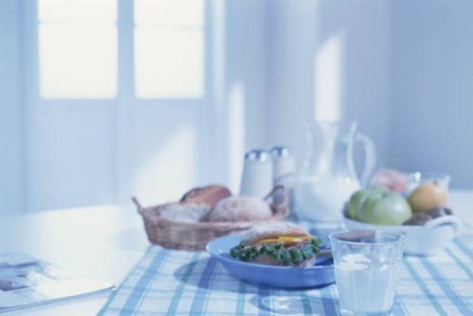 Stock Photo: 4029R-180195 Breakfast laid out in the kitchen
