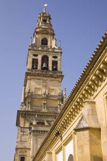 Stock Photo: 4029R-181216 Cordoba, Cordoba Province, Spain; Torre del Alminar of The Great Mosque