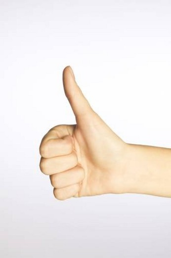 Stock Photo: 4029R-182681 Thumbs up