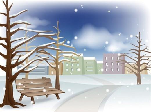 Stock Photo: 4029R-183019 outdoors, season, winter, nature, background, seasons, snow