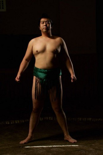 Stock Photo: 4029R-183211 Sumo wrestler