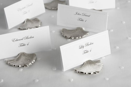 Place cards for wedding guests : Stock Photo