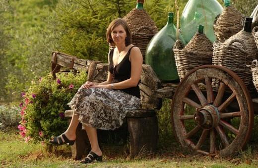 Stock Photo: 4029R-186635 Vineyards - Tuscany, Italy