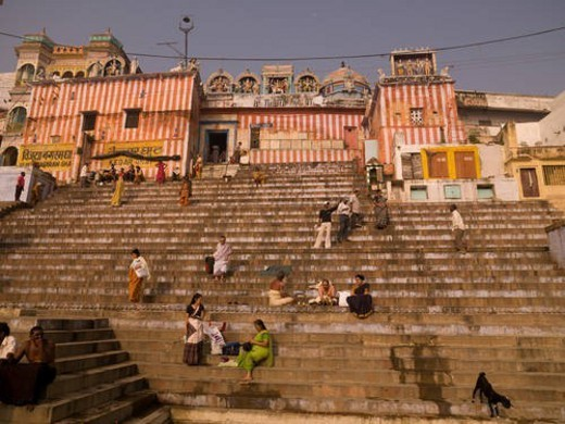 Stock Photo: 4029R-186646 Varanasi, India - Life on the Ganges