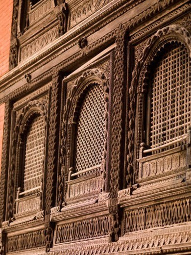Varanasi, India - Façade of building : Stock Photo