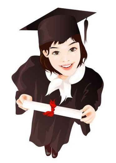 diploma, gown, mortar, mortar boards, education : Stock Photo