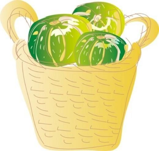 Stock Photo: 4029R-189499 Pumpkin, Illustrative Technique