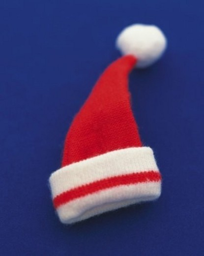 Stock Photo: 4029R-189938 Santa Claus s Hat, High Angle View, Close Up, Differential Focus, In Focus, Out Focus