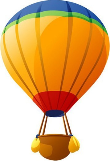flying, traveling, basket, hot air balloon, balloon, transportation, icon : Stock Photo