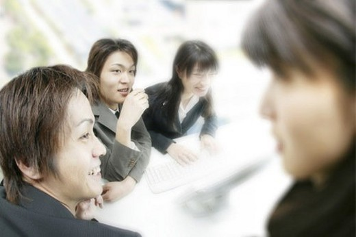 Stock Photo: 4029R-197575 Meeting