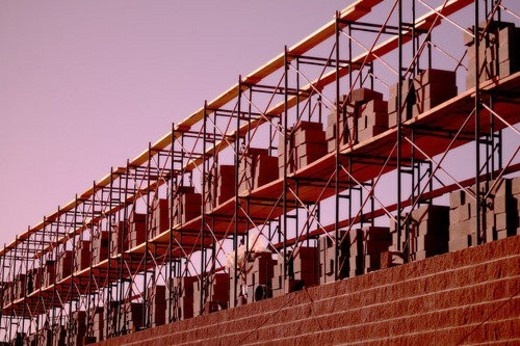 Stock Photo: 4029R-199510 Construction of a building