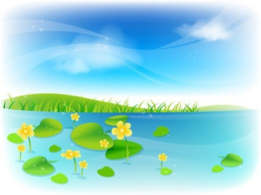 Stock Photo: 4029R-199701 landscape, background, outdoors, spring, nature, scenery, season