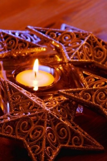 Christmas candle : Stock Photo