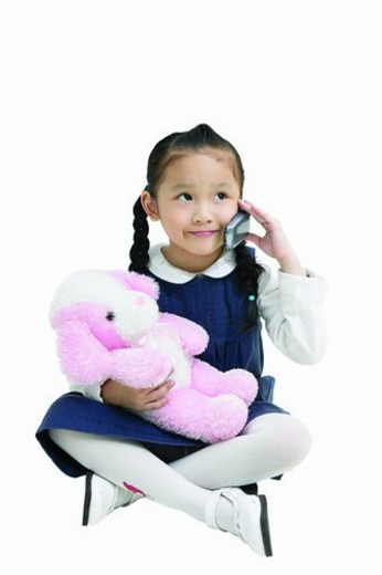 Stock Photo: 4029R-203634 Asian Ethnicity, Clipping Path, Child, Black Hair, 6-7 Years