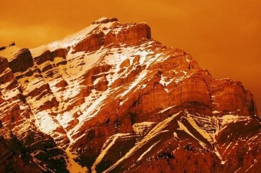 Stock Photo: 4029R-208642 Mountain peak