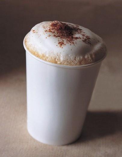 Stock Photo: 4029R-209268 beverage, brim, cappuccino