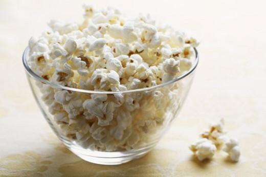 Bowl of popcorns : Stock Photo