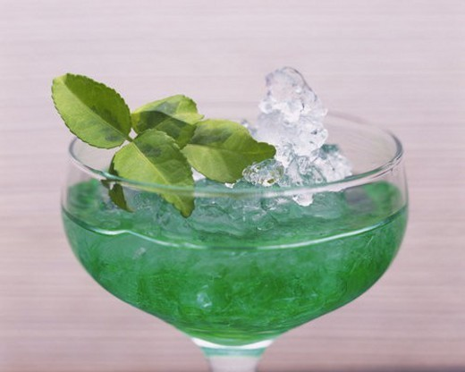 Stock Photo: 4029R-213536 Cocktail, Mint Frappe, Close Up