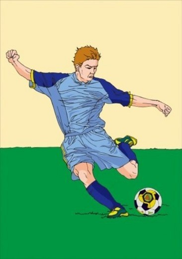 Stock Photo: 4029R-214997 Painting of a football player, Illustration