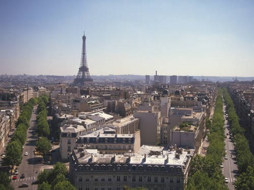 Paris cityscape,  Paris,  France : Stock Photo