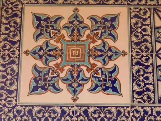 Turkish floor pattern : Stock Photo