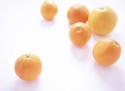 Orange and Grapefruit : Stock Photo