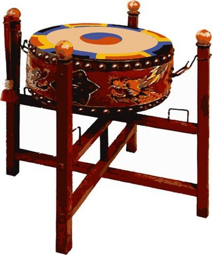 Stock Photo: 4029R-219897 korean classical music, percussion instrument, musical instrument, music, art