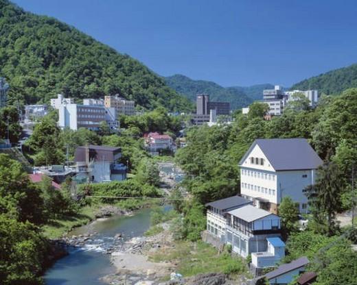 Hot spring resort, Sapporo, Hokkaido, Japan : Stock Photo