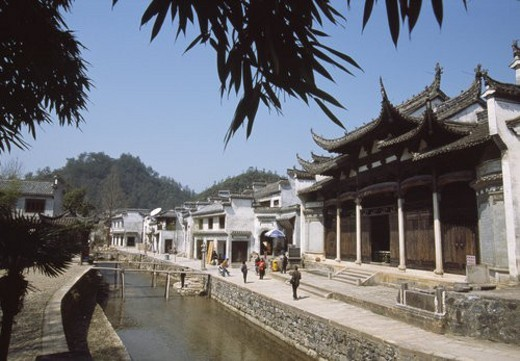 Stock Photo: 4029R-221092 Ancestral Hall of Hu Family, Jixi County, Anhwei