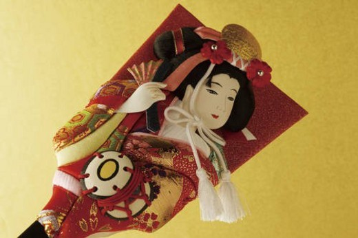 Stock Photo: 4029R-224056 Battledore decorated with Kabuki performer