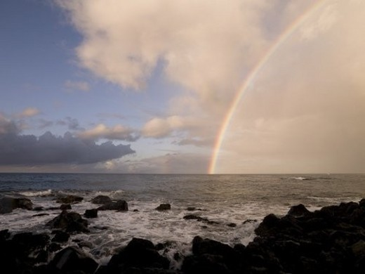 Rainbow, Poipu, Kauai, Hawaii : Stock Photo