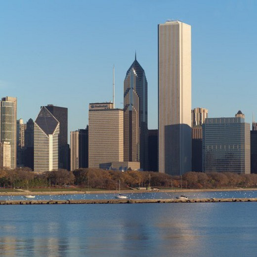 Stock Photo: 4029R-226594 High-rise buildings in Chicago