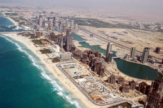 Stock Photo: 4029R-226681 dubai, aerial, dubai, marina, port, plaisance, towers