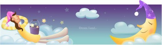 Stock Photo: 4029R-228841 young woman, lifestyle, cloud, moon, dream, humanism